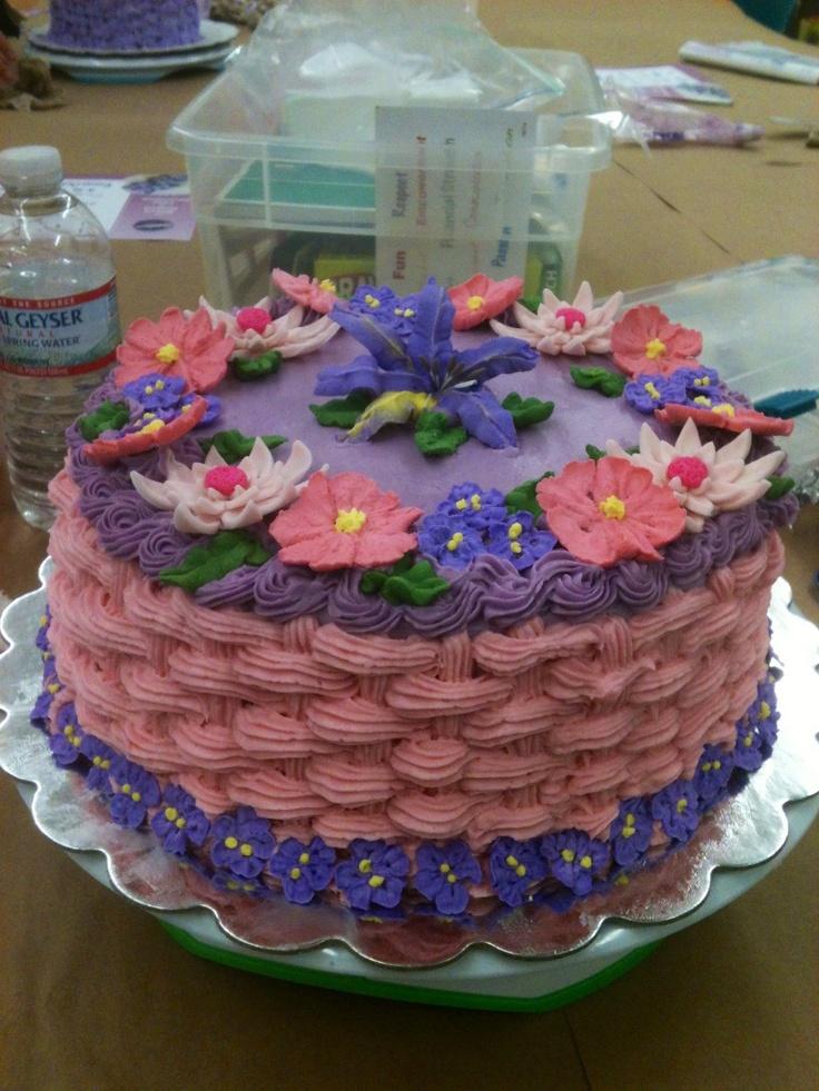 Basket Weaving A Cake : Best basket weave cakes images on