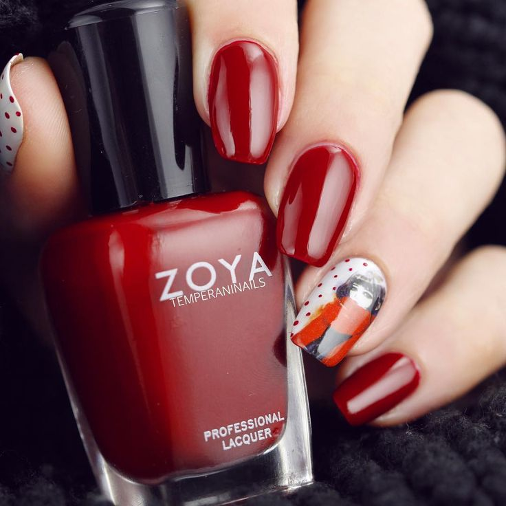 183 best Nails: Red & Burgundys images on Pinterest | Red, Zoya nail ...