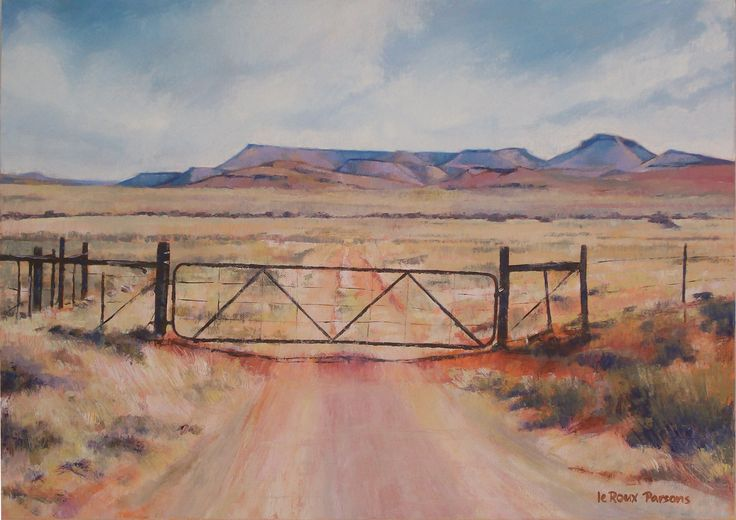 Gates, gates, gates. People love paintings of gates. Luckily I enjoy painting them too, so here is the lastest: The Road Not Taken SOLD