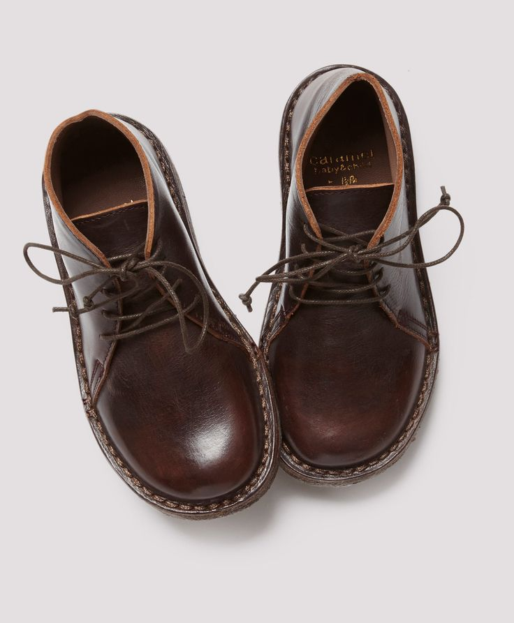Murgia Lace Up Boot, Burgandy, Caramel Baby & Child.