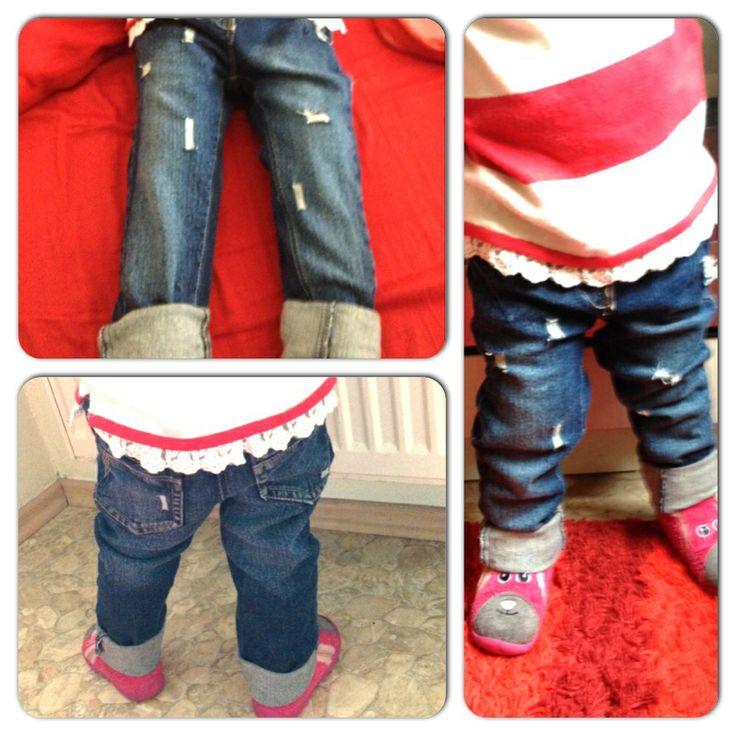 Diy used look jeans;)