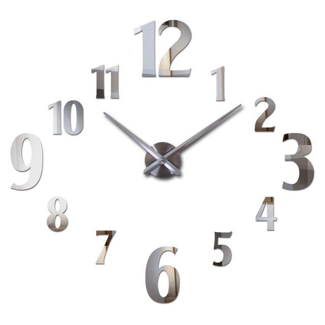 Beautiful promotion price hot sale wall clock diy reloj de pared modern design horloge murale for Pendule cuisine inox