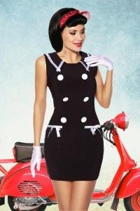 Vestido Pin Up marinero negro