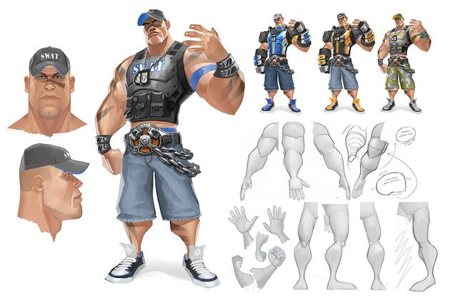 """Concept Artwork From Canceled """"Power Stone-Style"""" WWE Fighting Game (WWE Brawl) Emerges"""