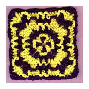 Wild Granny Square - A free Crochet pattern from jpfun.com.