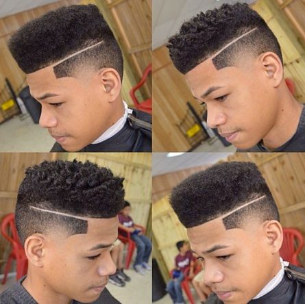 Soft hair sponge haircut high top fade before and after cut for black boys.