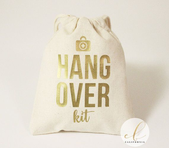 5x6 + 8x10 Hangover Kit Favor Bag // Wedding Hangover Kit // Bachelorette Party…