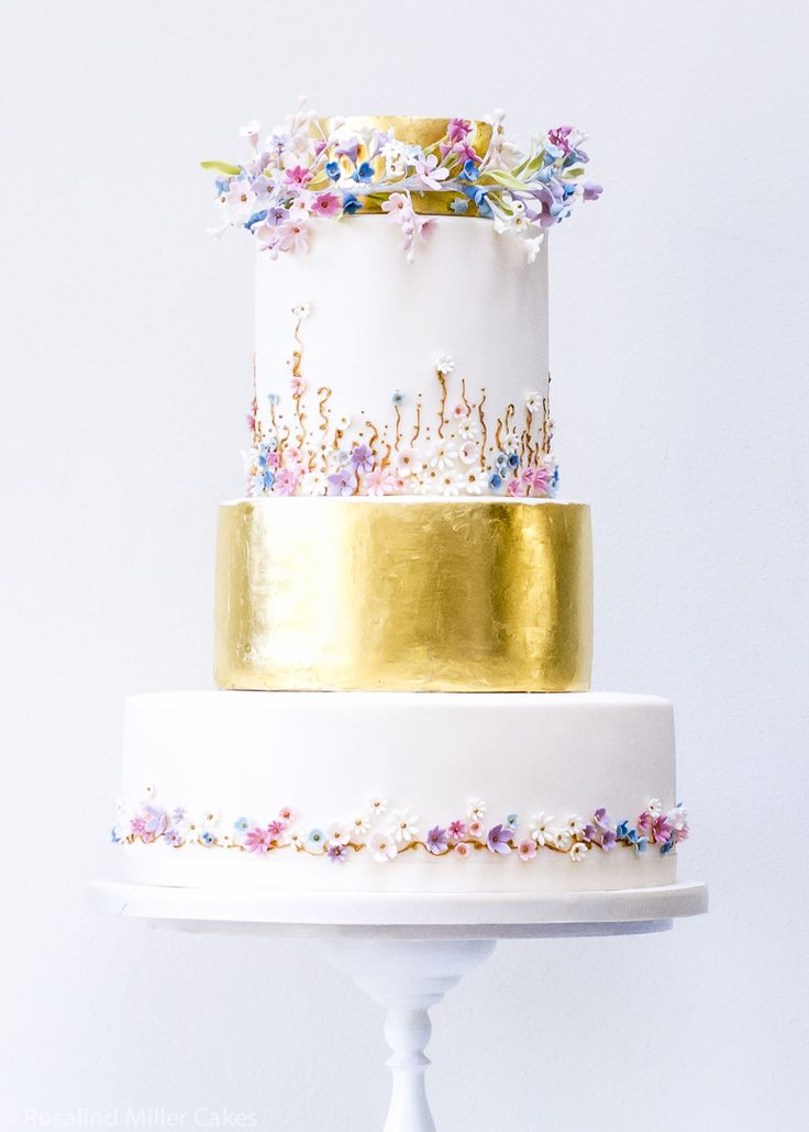 Golden Meadows Wedding Cake Available at Harrods by Rosalind Miller Cakes for Harrods - London