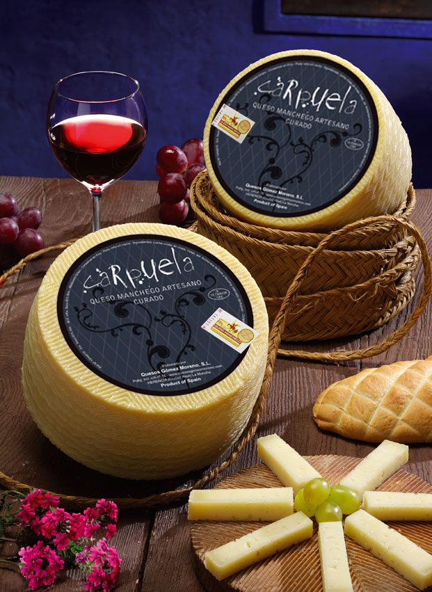 Carpuela - Manchego cheese, artisan cheeses, Manchego cheese, typical of La Mancha,