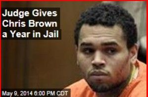 Latest News:   Judge Gives Chris Brown a Year in Jail.  A judge sentenced Chris Brown today to a year in jail, but that may end up being just four months—or 6 days—or whatever. In a Los Angeles courtroom, Brown admitted to violating his probation by getting in a fight in Washington, DC, so the judge gave him a one-year sentence.  Get all the latest news on your favorite celebs at www.CelebrityDazzle.com!