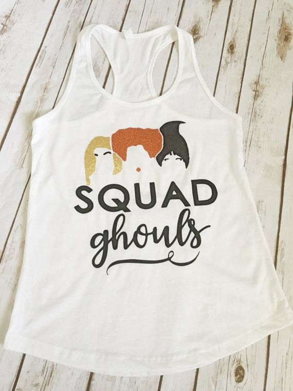 Squad ghouls tank top//hocus pocus by RBTcrafts on Etsy