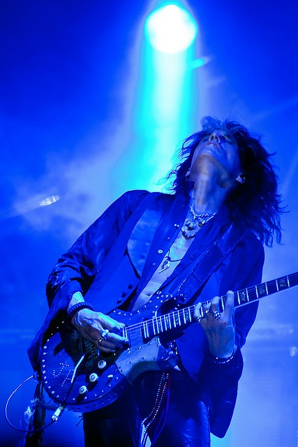 "Joe Perry leaves it all on the stage (with a Gibson guitar I might add) for Nobody's Fault   ""Man has known  And now he's blown it  Upside down  And hell's the only sound  We did an awful job  And now they say  It's nobody's fault"