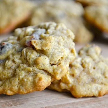 ... oatmeal create these chewy and delicious Pumpkin Oatmeal Cookies