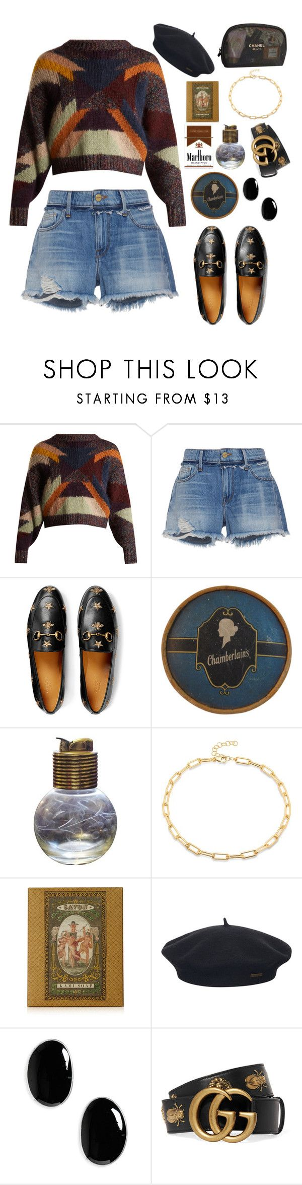 """""""I'm using white lighters to see, what's in front of me"""" by littlefruit18 ❤ liked on Polyvore featuring Isabel Marant, Frame, Gucci, Evans, Briard, Element, Sophie Buhai and Chanel"""