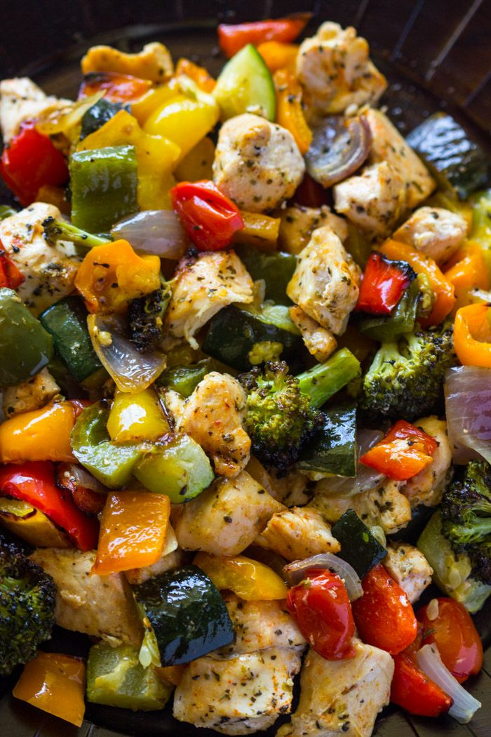 15 Minute Healthy Roasted Chicken and Veggies (One Pan), replace broccoli with green beans