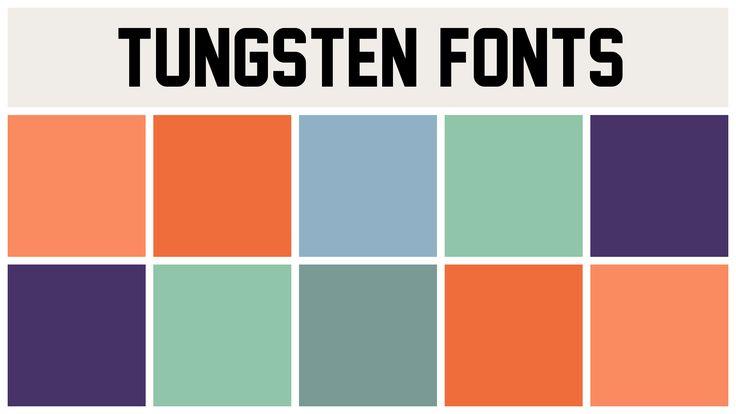 tungsten fonts - Best Fonts