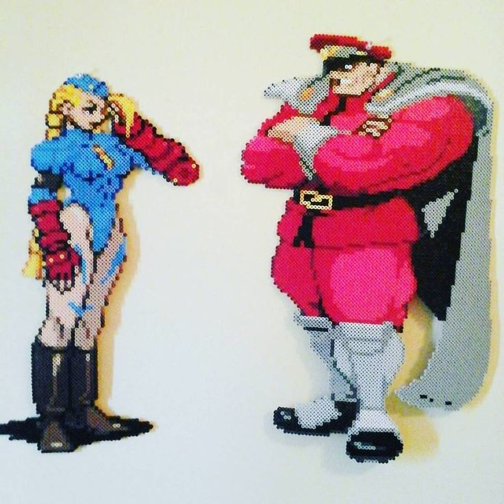Cammy and M.Bison from Street fighter Alpha Series. Sprites are from the late 1990's Capcom games that were used for Marvel vs Capcom 2, X-men vs Street fighter and, Street fighter Alpha 3. Cammy w...