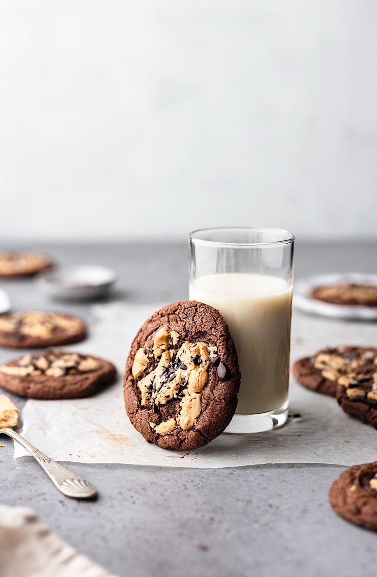 Double Chocolate Chip Peanut Butter Cookies