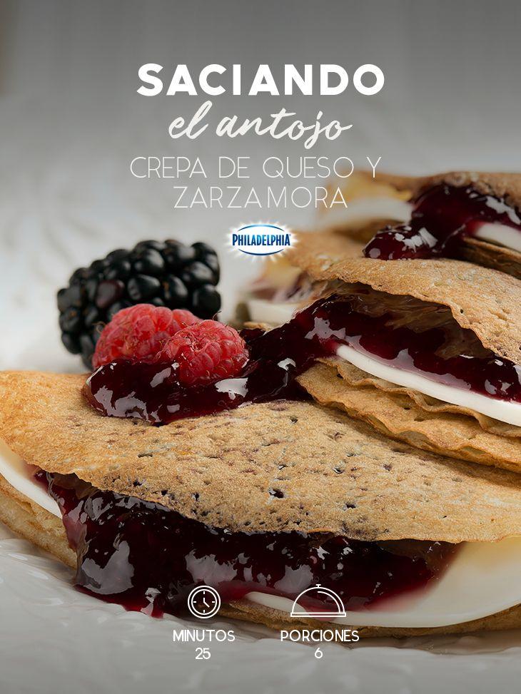 No te quedes con el antojo y prueba estas ricas Crepas de queso y zarzamora. #recetas #receta #quesophiladelphia #philadelphia #crema #quesocrema #queso #comida #comidamexicana #postres #postre #dulce #recetaspostres #crepas #zarzamora