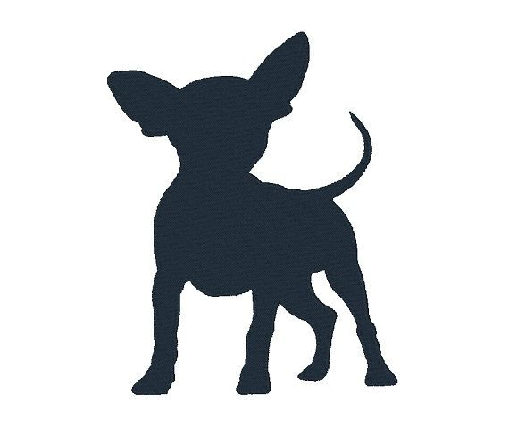 Chihuahua Silhouette by EmbroidDesigns on Etsy