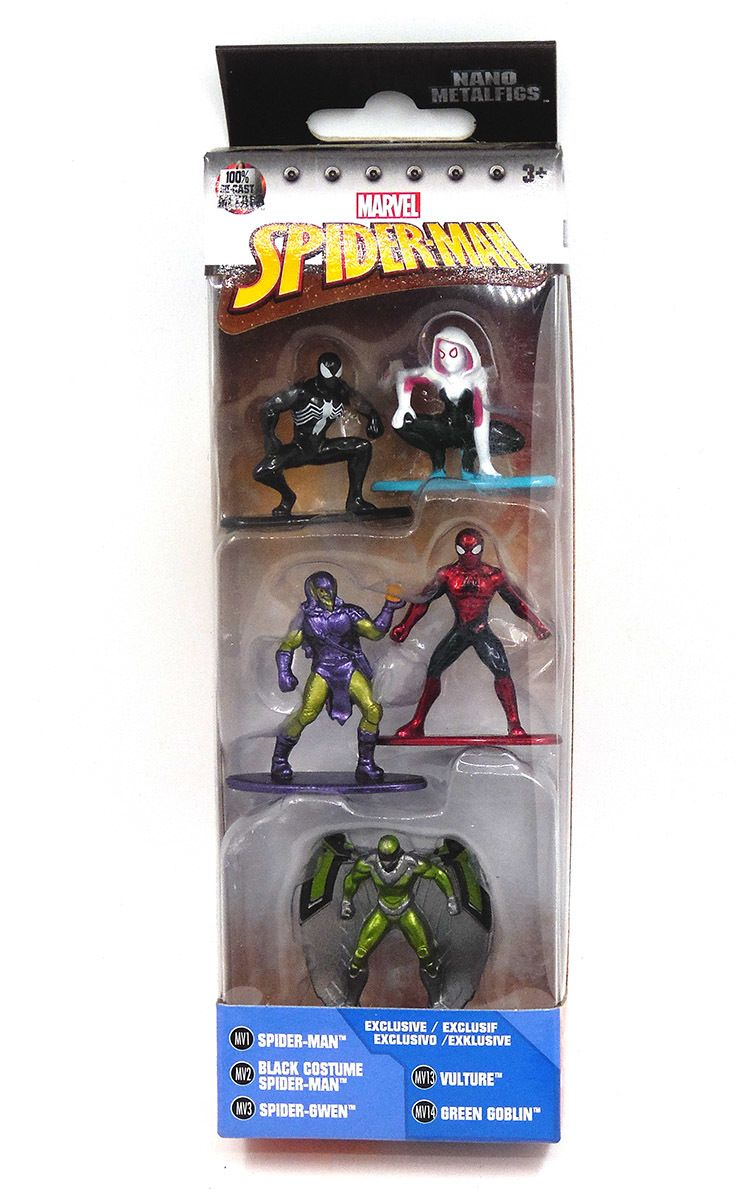 Jada Marvel Spiderman Nano metalfigs 5 Pack Spiderman Vautour Green Goblin-NEUF