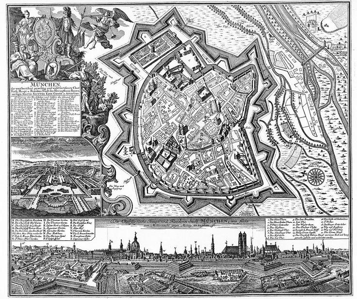 Munich Germany - Matthias Merian 1740