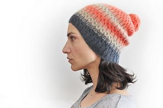 Vulkan Spy Hat - love the shaped band 8ply