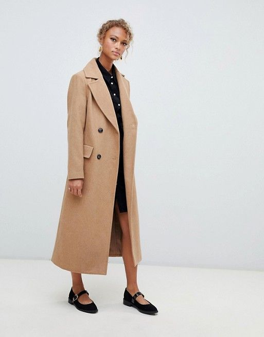 b98af8cccf New Look tailored maxi coat in camel