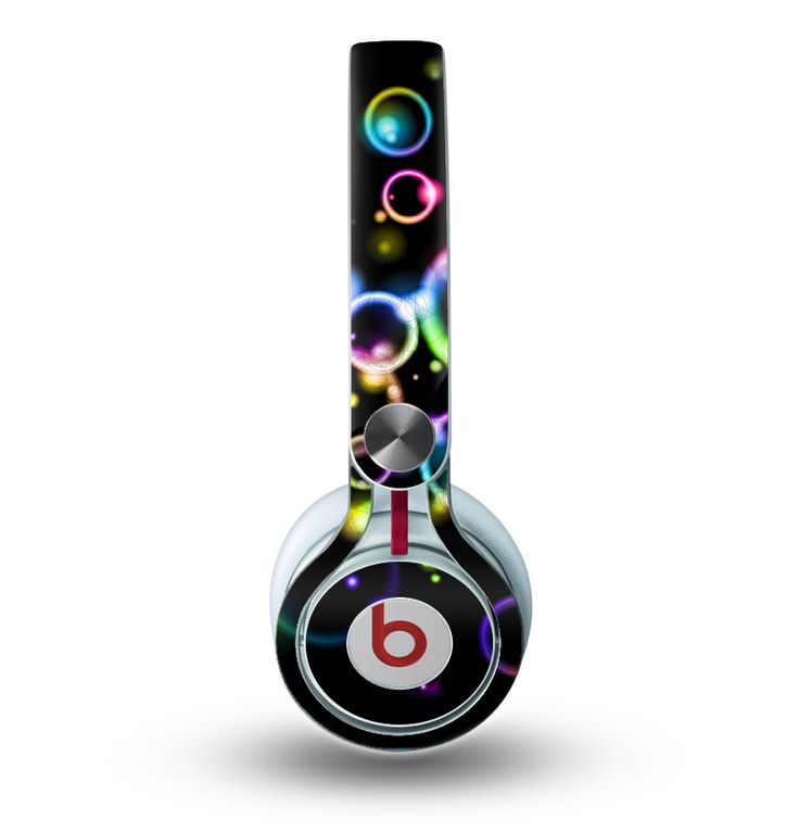 The Glowing Neon Bubbles Skin for the Beats by Dre Mixr Headphones
