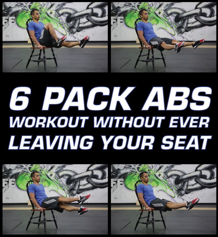 Get ready for an epic six pack abs workout that you have never seen before. You can do this chair workout anywhere.  The ab workout is downright simple, but it's enough to make you feel like your abs are on fire. This ab workout routine consists of 10 challenging ab exercises for 30 seconds each with no rest in between except a very quick break in between exercises to transition from one to the next.