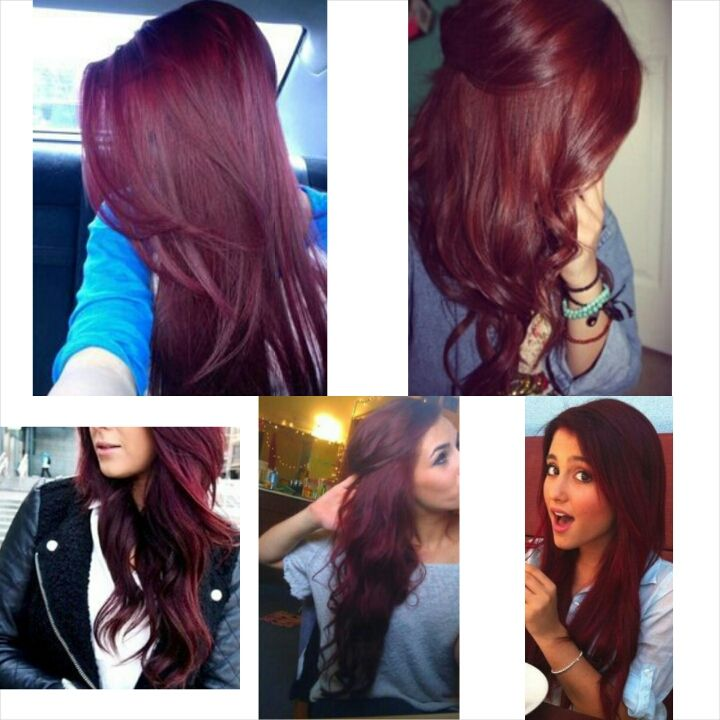 Dark brown cherry coke hair color  . I want my hair like this