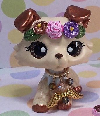 Littlest Pet Shop Cute Collie Dog, Ooak Custom, Hand Painted, LPS
