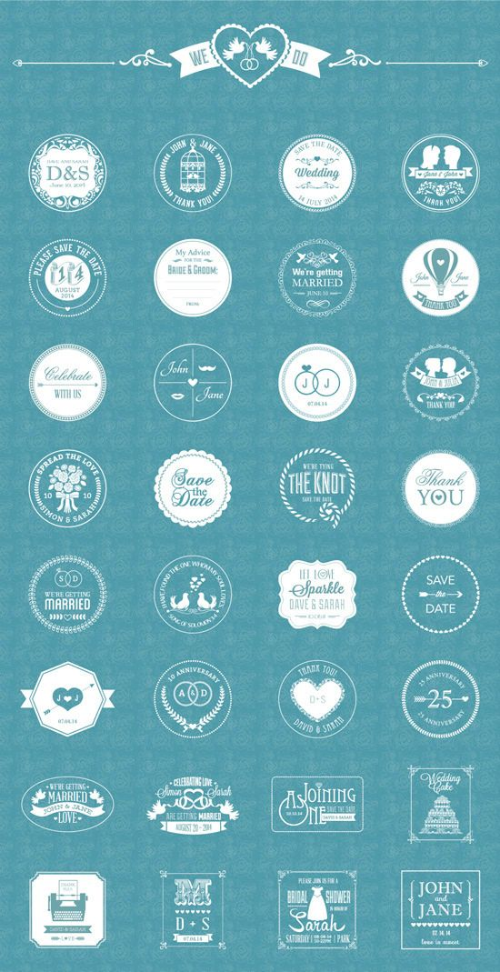 Free Vector Wedding Badges #freepsdfiles #psdgraphics #vectorgraphics #freepsdgraphics #freepsdmockups #freebies