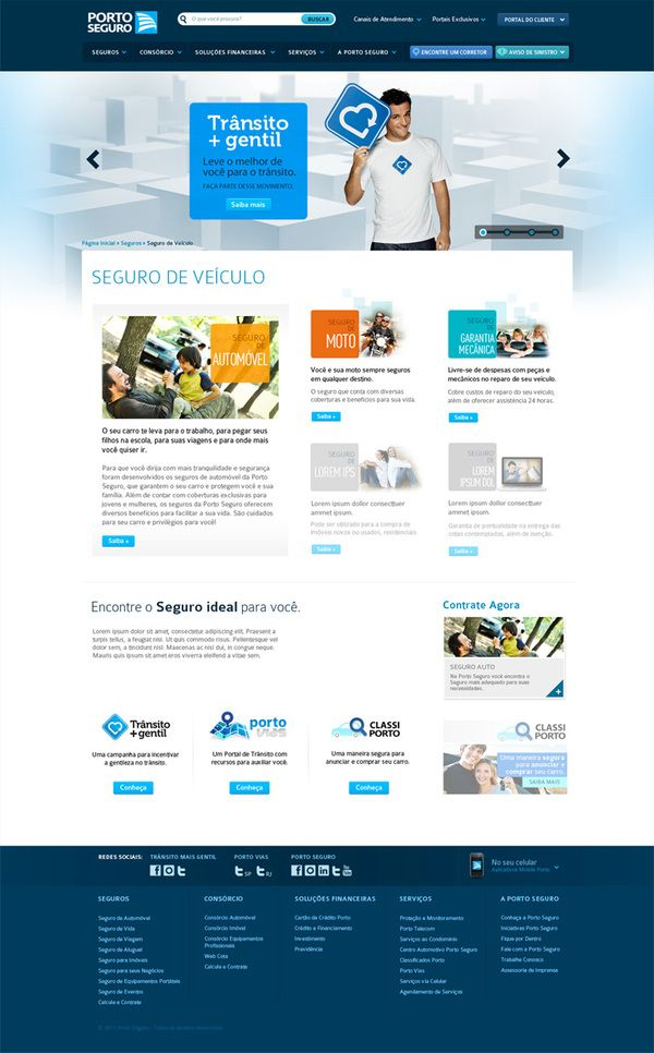 Porto Seguro:  Internet Site, Web Media, Seguradora Porto,  Website, Web Design, Safe Harbor, Web Site, Design Served