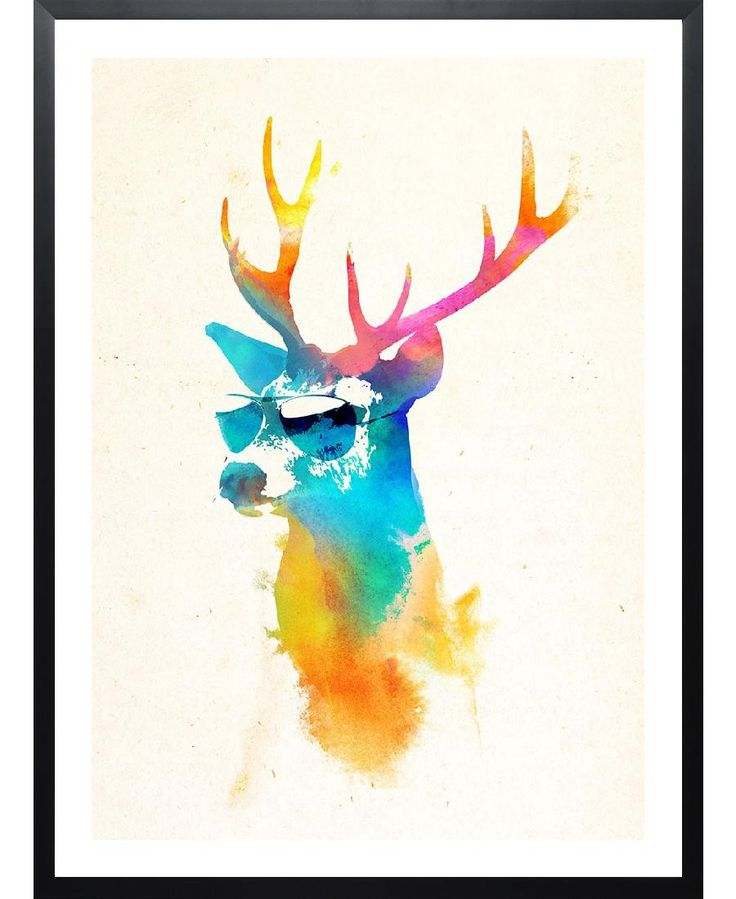 Sunny deer VON Róbert Farkas now on JUNIQE!