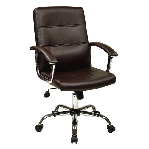 "OSP Designs Malta Office Chair Overall: 23.75"" W x 25"" D  $119 free ship"