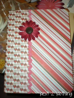 decorated notebook as the summer journal for Liza