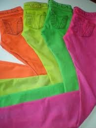 Neon jeans: How would you choose which color?!  I missed these! ;)