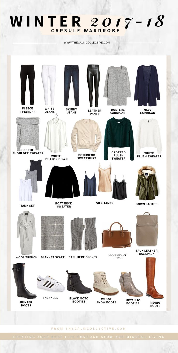 Winter Capsule Wardrobe For 2017 And 2018 Capsule