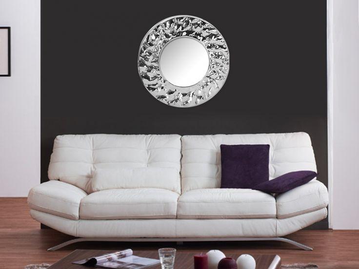 Miroir MAJESTIC en aluminium - Diamètre 60 cm