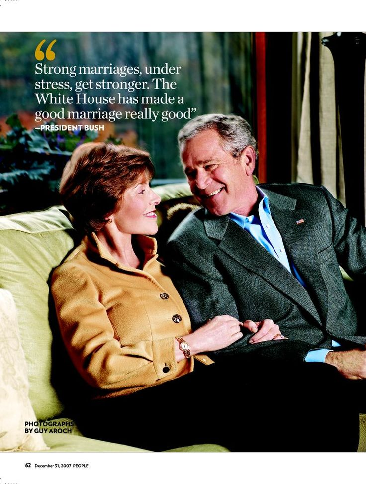 Check out this throwback interview with President and First Lady George W. Bush.