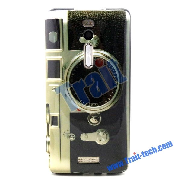 Fashion Bordure Ultra-thin Soft TPU Back Case for Asus ZenFone 2 ZE551ML - Camera Like Pattern