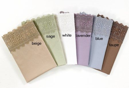 500 Thread Count Cotton Lace Sateen Sheet Set