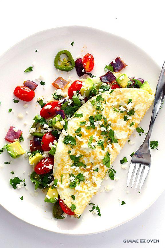 Fácil omelet mexicano de claras de huevo | 34 Recetas nutritivas que son perfectas para cualquier época del año