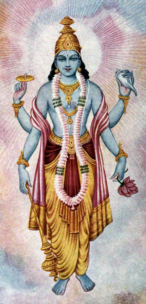 Lord Vishnu - The Protector. You will encounter him at most temples while travelling in India