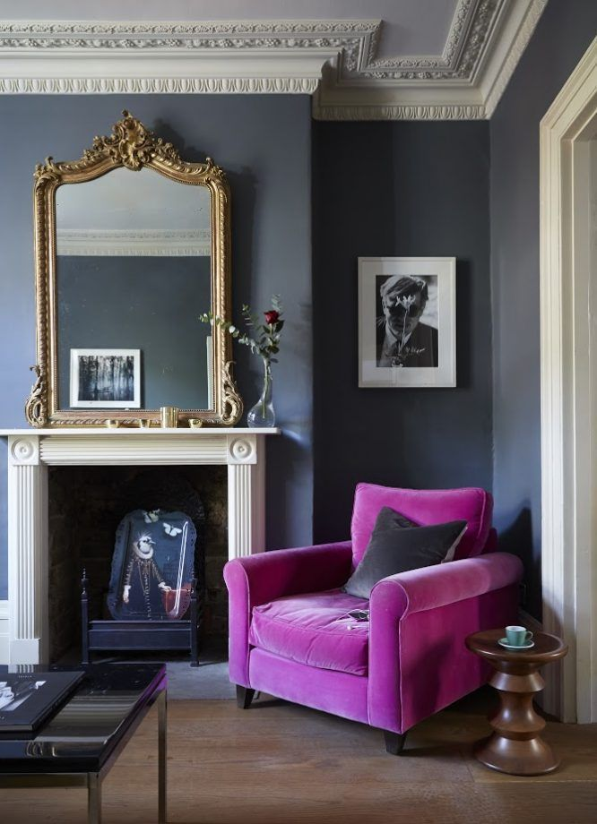 Paint Color Ideas Black Furniture Dark Living Rooms Dark Blue Living Room Eclectic Living Room #purple #and #grey #living #room #walls