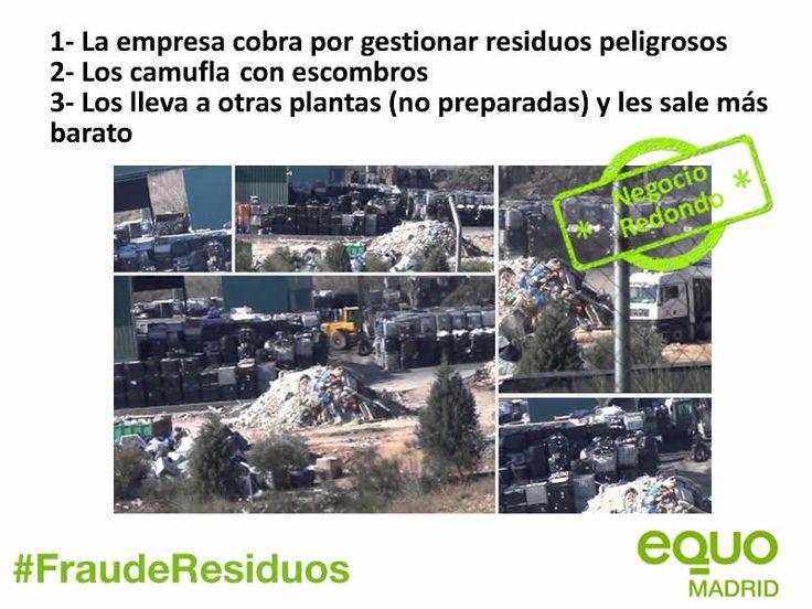 EQUO pide una investigación sobre el tráfico ilegal de residuos industriales y peligrosos