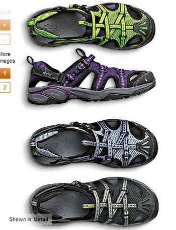 Ahnu tilden IV sports sandal: Optimal support for trail running, light hiking and water trekking. Ultra-lightweight with breathable, quick-drying mesh upper. Integrated nylon webbing; adjustable heel strap; rubber toe bumpers. Single-pull lace system; EVA midsole and footbed; rubber outsole