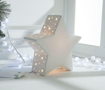 Lámpara de estrella de porcelana 27x26x10cm - Leroy Merlin