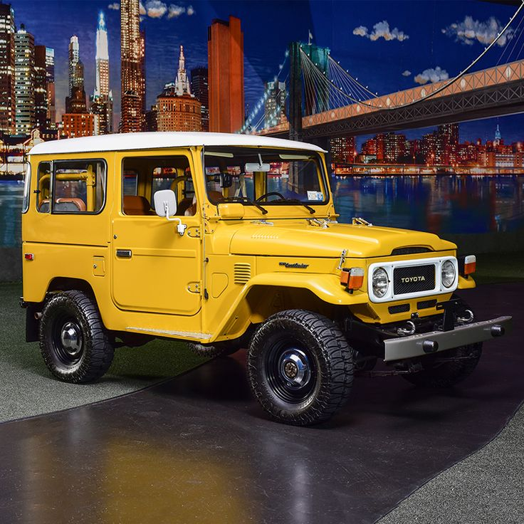 PALM BEACH AUCTION PREVIEW: This 1980 Land Cruiser FJ40 has been restored to better-than-showroom condition, with correct Mustard Yellow paint. It's powered by an F2 inline-6 engine with 4-speed manual transmission, new head and piston rings.